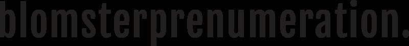 Logo - Prenumerera på blommor - Blomsterprenumeration.se